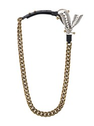 Lanvin Bow Detail Chain Necklace Metallic