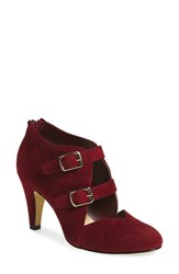 Bella Vita Women's 'Niko' Water Resistant Double Buckle Pump Burgundy Suede