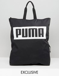 Puma Exclusive To Asos Square Backpack In Black Black