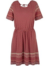 Fat Face Sara Embroidered Dress Flame