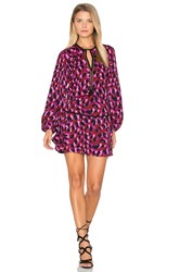 Karina Grimaldi Titti Print Mini Dress Purple