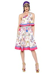Manish Arora Paisley Printed Ruffled Crepe Dress