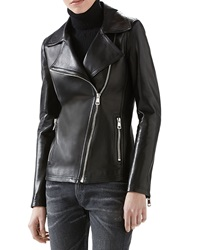Gucci Leather And Knit Biker Jacket