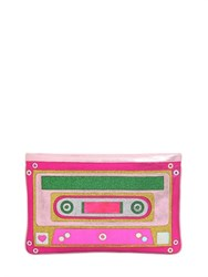 Manish Arora Cassette Tape Glittered Leather Pouch