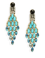 Robert Rose Marquis Chandelier Earrings Turquoise
