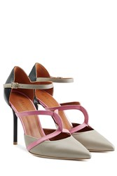 Malone Souliers Leather Double Strap Mules Multicolor