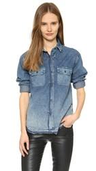 Ag Jeans Scout Denim Button Down Shirt Dalliance