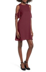 Everly Women's Cold Shoulder Shift Dress Burgundy