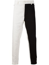 Ann Demeulemeester Textured Trousers White