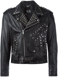Enfants Riches Deprimes Studded Biker Jacket Black