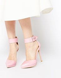 Ax Paris Darcy Ankle Strap Heeled Shoes Pink
