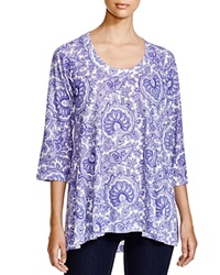 Nally And Millie Paisley Print Tunic 100 Bloomingdale's Exclusive Charcoal