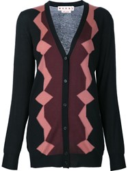 Marni Geometric Pattern Cardigan Black