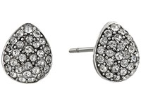 Cole Haan Small Pave Teardrop Stud Earrings Rhodium Crystal Earring Silver