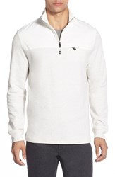 Men's Bugatchi Long Sleeve Quarter Zip Knit Sweatshirt White