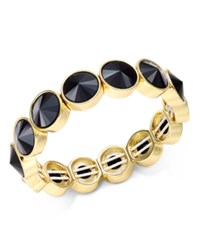 Charter Club Bezel Set Crystal Stretch Bracelet Only At Macy's Jet Gold