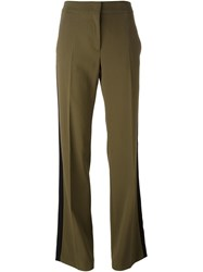 N 21 No21 Lateral Stripe Flared Trousers Green