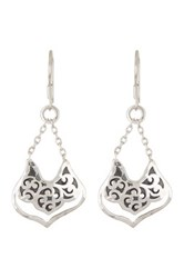 Lois Hill Sterling Silver Bulb Drop Chain Earrings No Color