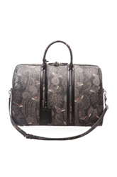 Givenchy Paisley Print Carryall Bag In Black Floral Animal Print