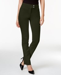 Styleandco. Style Co. Tummy Control Slim Leg Pants Only At Macy's Evening Olive