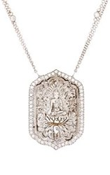 Sara Weinstock Women's Carved Buddha Pendant Necklace Colorless