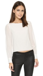 Alice Olivia Bey Lace Detail Blouse Off White