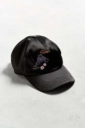 Urban Outfitters Uo Satin Icon Baseball Hat Black