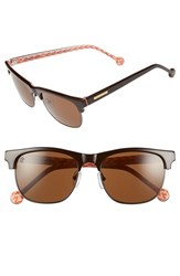 Women's Jonathan Adler 'Ipanema' 55Mm Sunglasses Brown