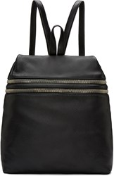 Kara Black Double Zip Backpack