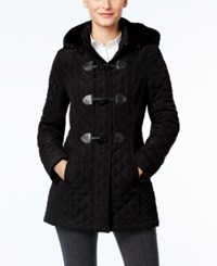 Laundry By Design Hooded Toggle Coat Black