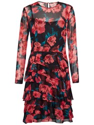 French Connection Allegro Poppy Dress Black Multi