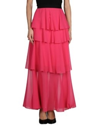 Space Style Concept Long Skirts Fuchsia