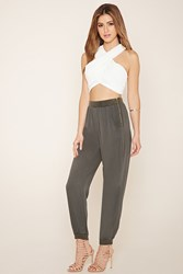 Forever 21 Life In Progress Zippered Joggers