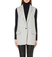 Rag And Bone Frankie Wool Blend Waistcoat Grey Melange