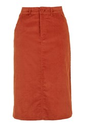 Keely Midi Skirt By Motel Copper