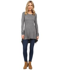 Culture Phit Jamila Uneven Hem Sweater Grey Women's Sweater Gray