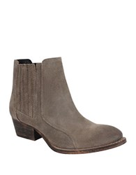 Charles By Charles David Yale Suede Mid Heeled Booties Grey