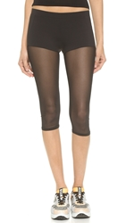 Solow Sheer Capri Leggings Black
