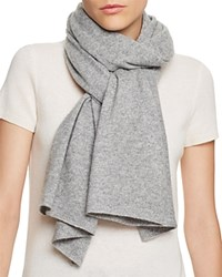 Bloomingdale's C By Bloomingdales Cashmere Angelina Solid Scarf Pale Gray