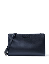 Michael Michael Kors Textured Saffiano Leather Convertible Clutch Admiral