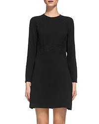 Whistles Amy Lace Inset Dress Black