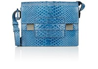 Delvaux Women's Python Madame Pm Shoulder Bag Blue