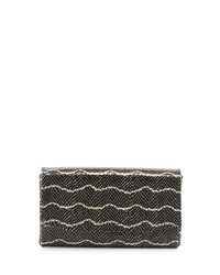 June Clutch Black Ivory Lauren Merkin Black Cream