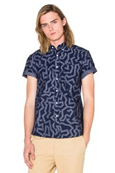 Saturdays Surf Nyc Esquina Maze S S Button Down Navy