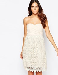 Traffic People Carry On Crochet Crusade Dress With Bandeau Top Cream