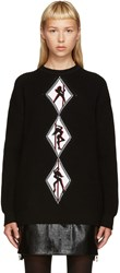 Alexander Wang Black Graphic Sweater