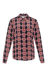 Holly Fulton Long Sleeve Floral Blouse Pink
