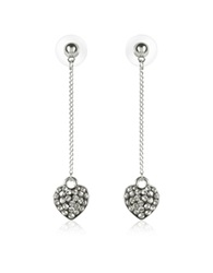 Gis Le St.Moritz Fantasmania Crystal Heart Drop Earrings Black