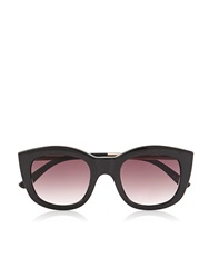 Le Specs Runaways Luxe Thick Framed Sunglasses Black Black