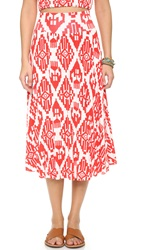 Clayton Cameron Skirt Vermilion Tribal